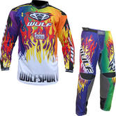 Wulf Firestorm Adult Motocross Jersey & Pants Multi Kit