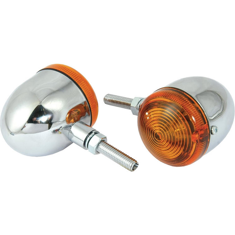 Bike It Chrome Short Stem Bullet Indicators