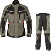 Spada Marakech Motorcycle Jacket & Trousers Washed Olive & Slate Kit