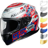 Shoei NXR Marquez Power Up Motorcycle Helmet & Visor