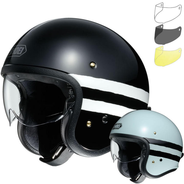 Shoei J.O Sequel Open Face Motorcycle Helmet & Visor