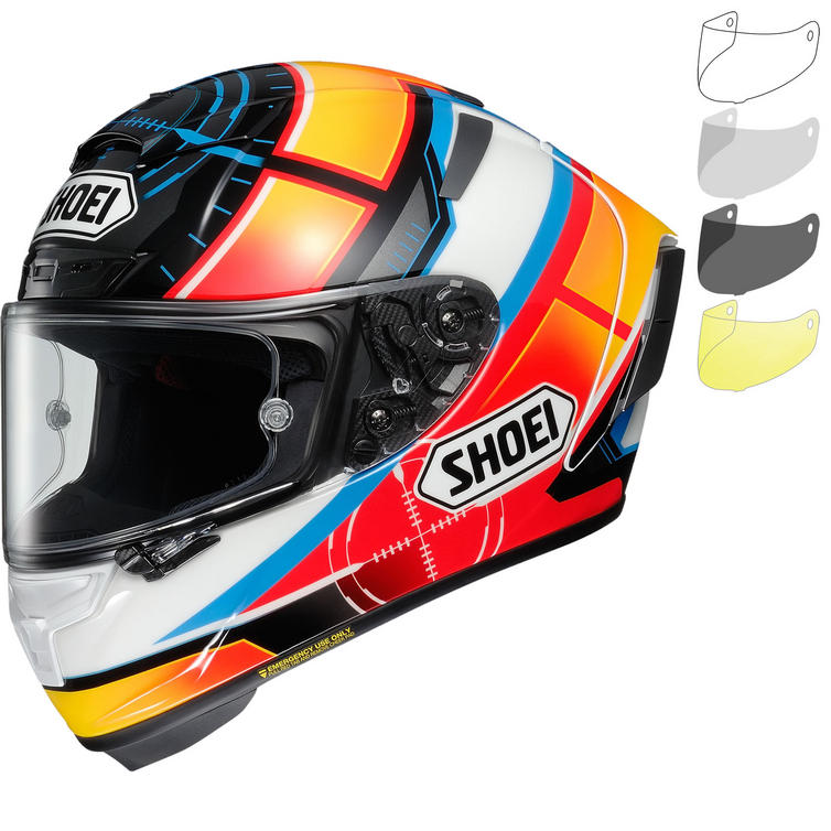 Shoei X-Spirit 3 De Angelis Motorcycle Helmet & Visor