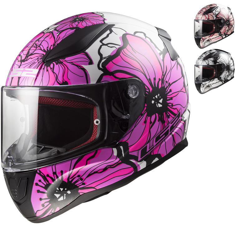 LS2 FF353 Rapid Poppies Motorcycle Helmet