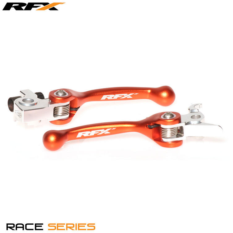 FXFL 30100 55RD - RFX Pro Series Forged Flexible Lever Set - Red - Kawasaki KX 65 (00-18)