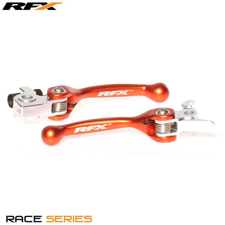 FXFL 50100 55OR - RFX Pro Series Forged Flexible Lever Set - Orange - KTM 250 SXF (06-13)