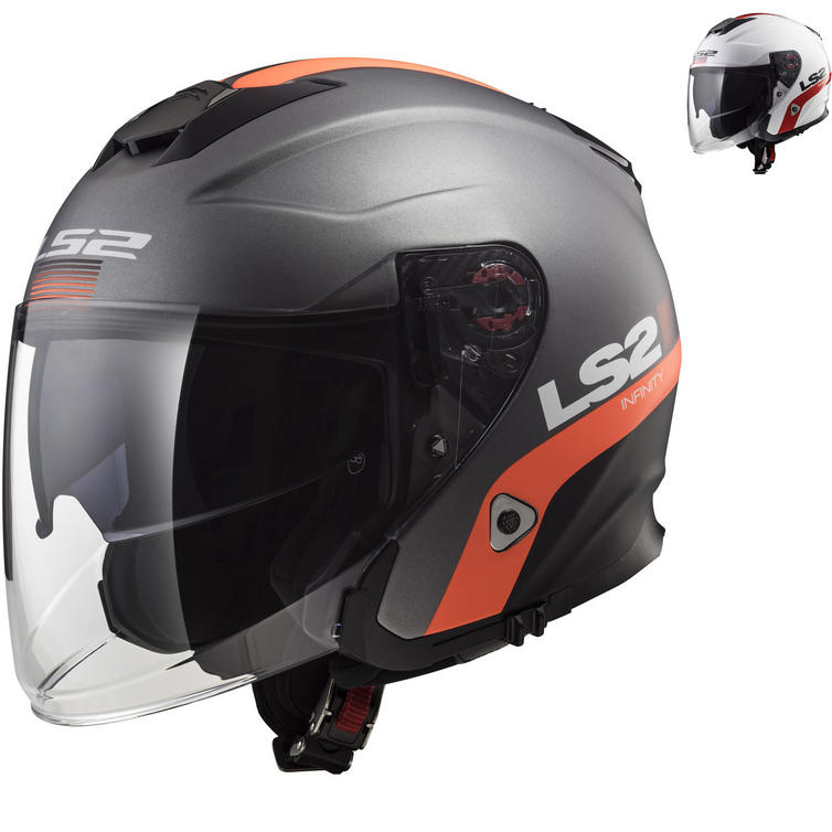 LS2 OF521 Infinity Smart Open Face Motorcycle Helmet