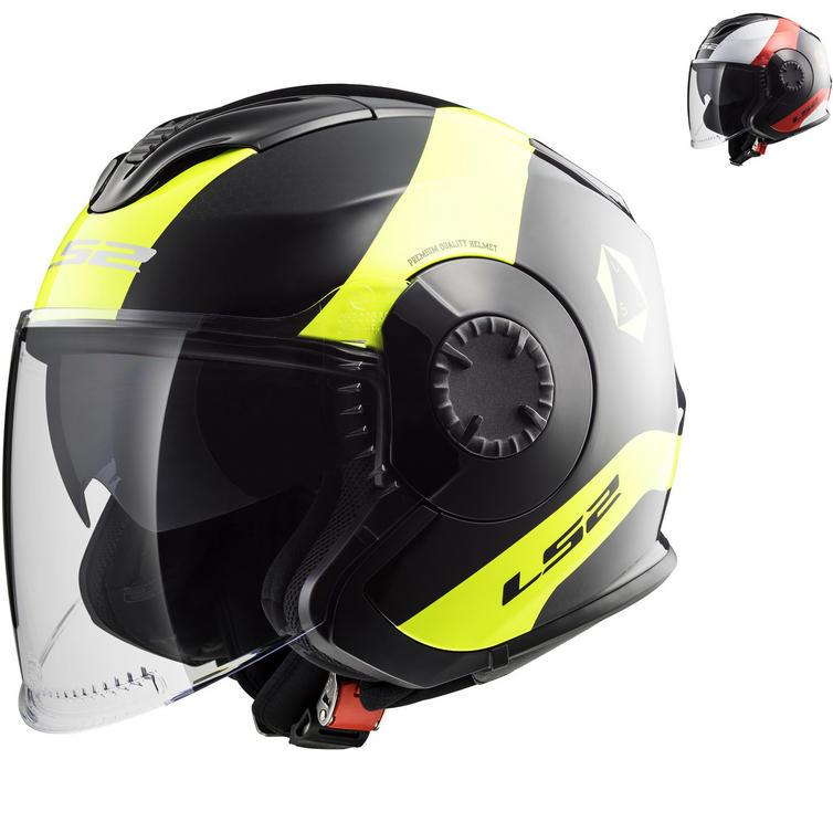 LS2 OF570 Verso Technik Open Face Motorcycle Helmet