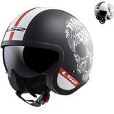 LS2 OF599 Spitfire Inky Open Face Motorcycle Helmet