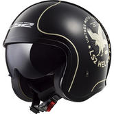 LS2 OF599 Spitfire Flier Open Face Motorcycle Helmet