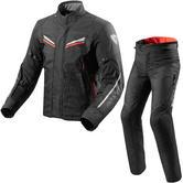 Rev It Vapor 2 Motorcycle Jacket & Trousers Black Red Kit