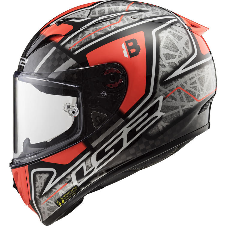 LS2 FF323 Arrow C Evo Replica Hector Barbera Motorcycle Helmet