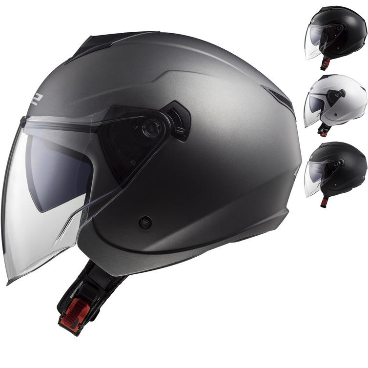 LS2 OF573 Twister Solid Open Face Motorcycle Helmet