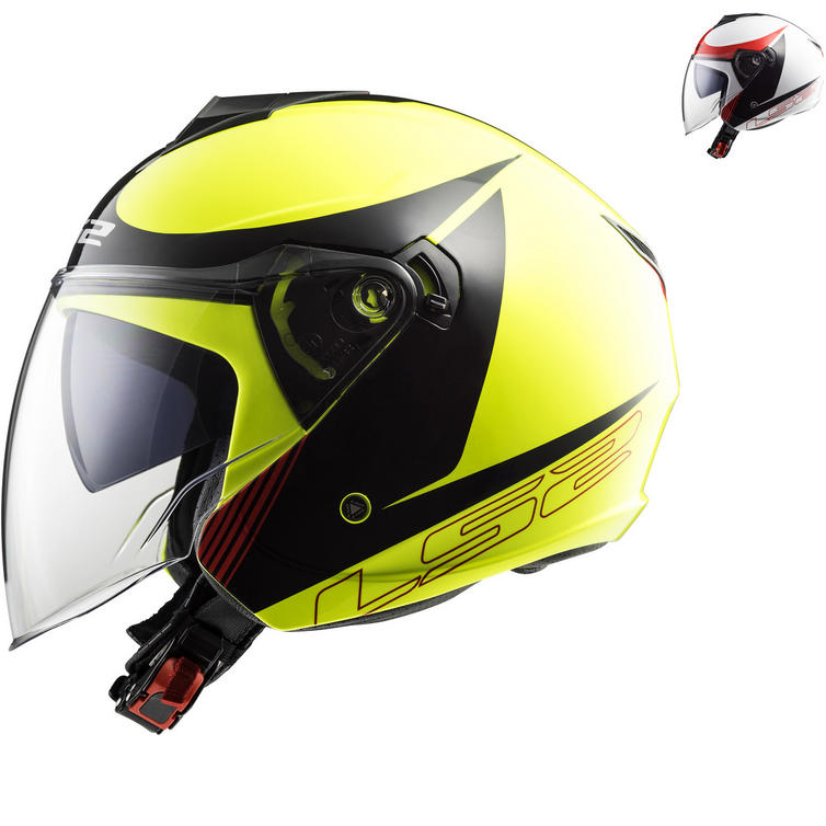 LS2 OF573 Twister Plane Open Face Motorcycle Helmet
