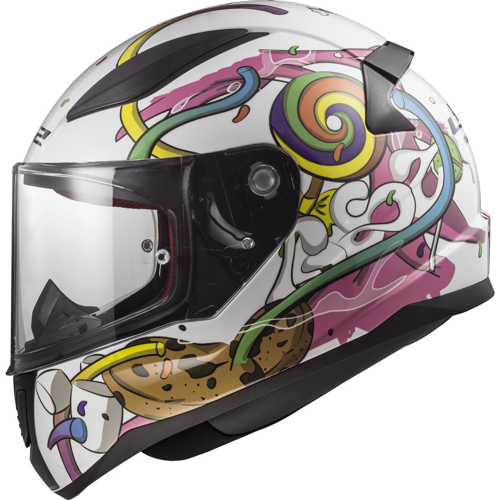 Crazy motorcycle helmet stickers
