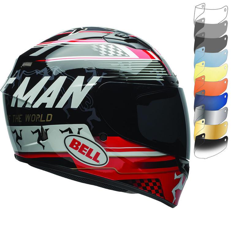 Bell Qualifier DLX Isle Of Man Motorcycle Helmet & Visor