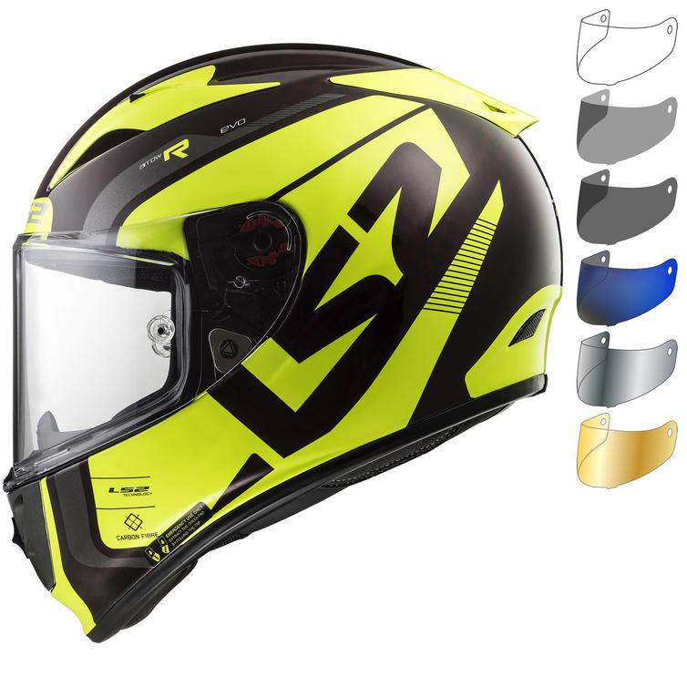 LS2 FF323 Arrow C Evo Sting Wineberry H-V Motorcycle Helmet & Visor