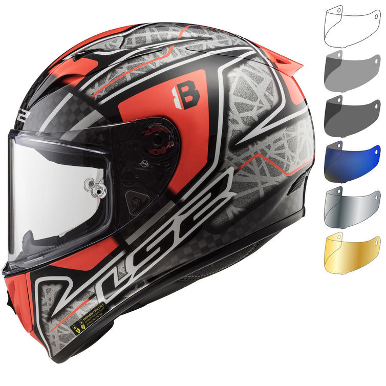 LS2 FF323 Arrow C Evo Replica Hector Barbera Motorcycle Helmet & Visor