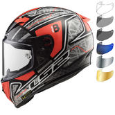 LS2 FF323 Arrow C Evo Replica Hector Barbera Motorcycle Helmet & Visor