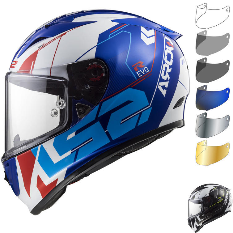 LS2 FF323 Arrow R Evo Techno Motorcycle Helmet & Visor