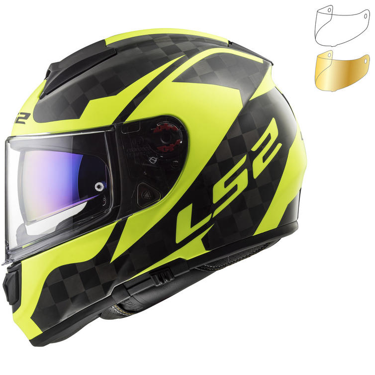 LS2 FF397 Vector C Shine Carbon Motorcycle Helmet & Visor