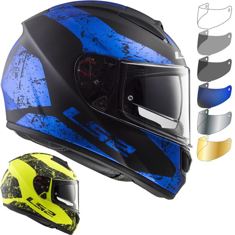 LS2 FF397 Vector HPFC Evo Sign Motorcycle Helmet & FREE Visor