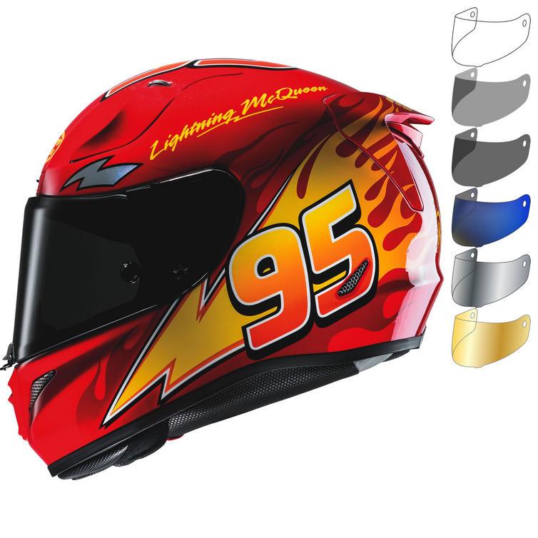 HJC RPHA 11 Lightning McQueen Disney Pixar Motorcycle Helmet & Visor