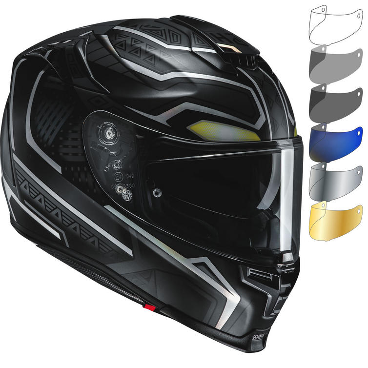 HJC RPHA 70 Black Panther Motorcycle Helmet & Visor