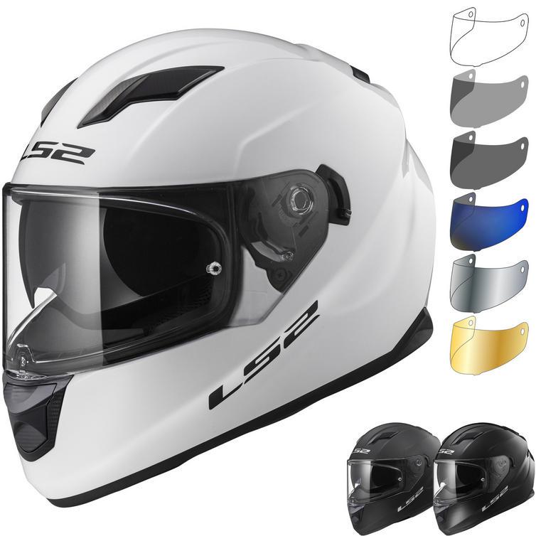 LS2 FF320 Stream Evo Solid Motorcycle Helmet & Visor