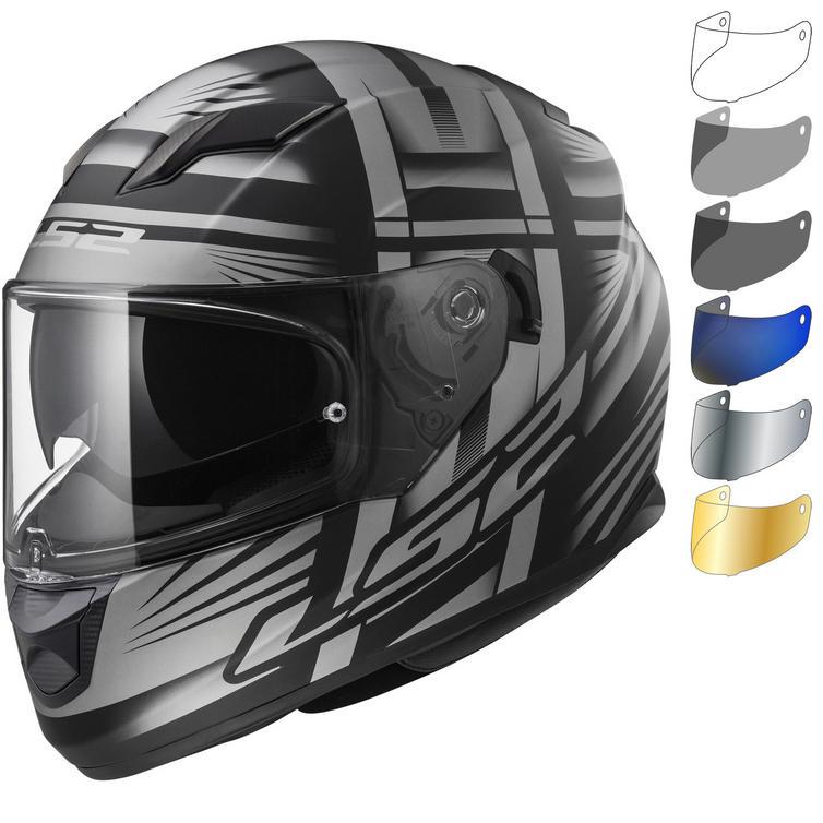 LS2 FF320 Stream Evo Bang Motorcycle Helmet & Visor