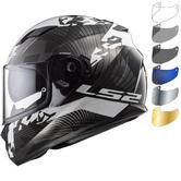 LS2 FF320 Stream Evo Hype Motorcycle Helmet & Visor