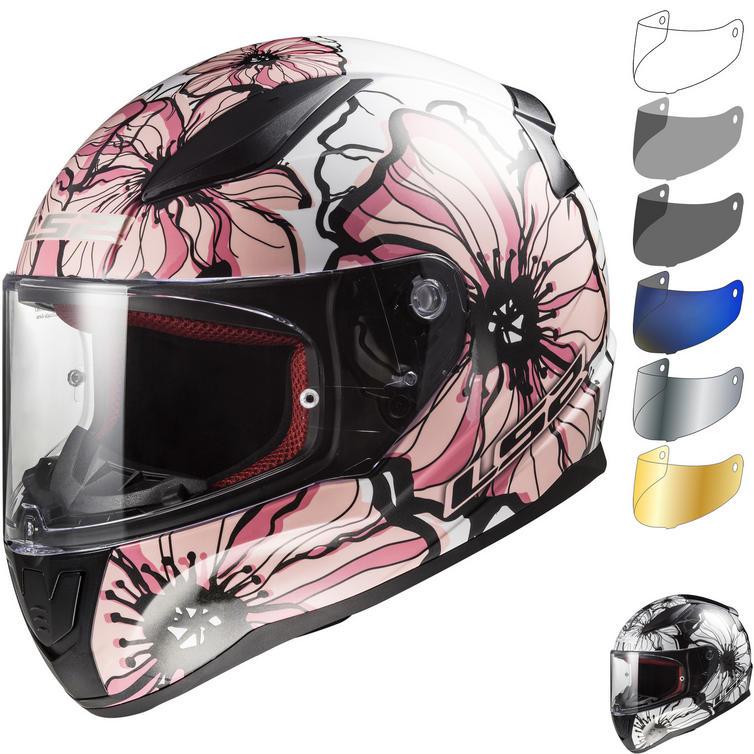 LS2 FF353 Rapid Poppies Motorcycle Helmet & Visor