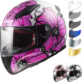 LS2 FF353 Rapid Poppies Motorcycle Helmet & Visor