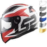 LS2 FF353 Rapid Grid Motorcycle Helmet & Visor