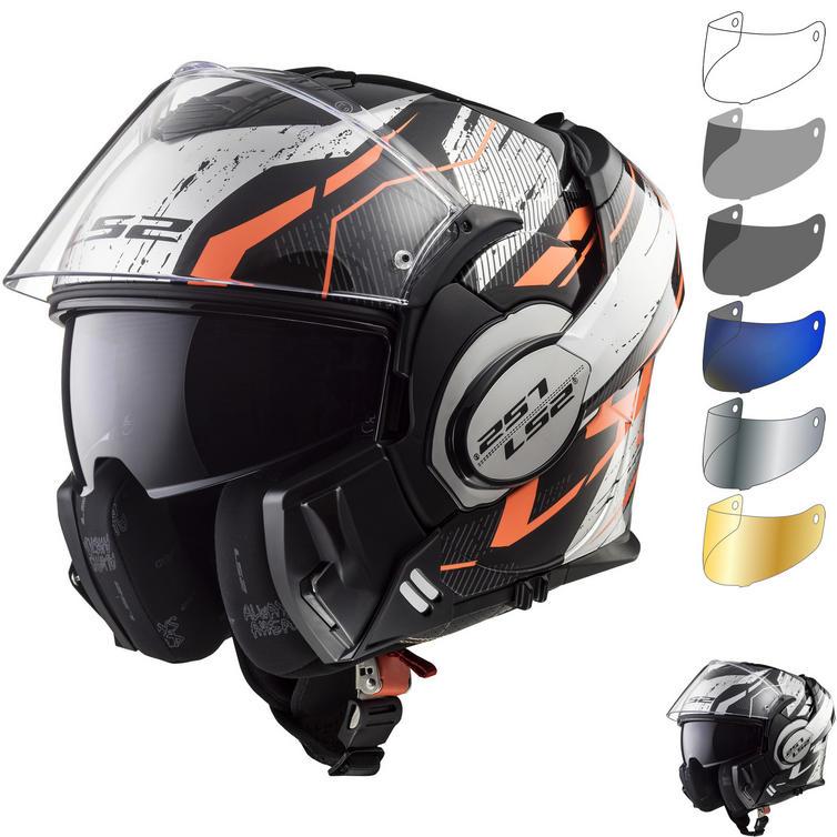 LS2 FF399 Valiant Roboto Motorcycle Helmet & Visor