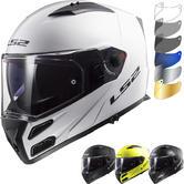 LS2 FF324 Metro Evo P-J Solid Flip Front Motorcycle Helmet & FREE Visor