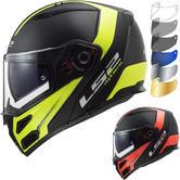LS2 FF324 Metro Evo P-J Rapid Flip Front Motorcycle Helmet & FREE Visor