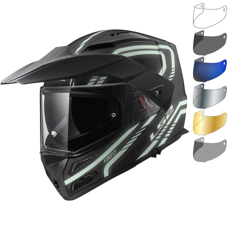 LS2 FF324 Metro Evo Firefly Flip Front Motorcycle Helmet & Visor