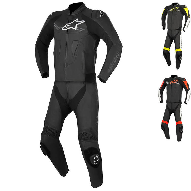 Alpinestars Challenger v2 2 Piece Leather Motorcycle Suit
