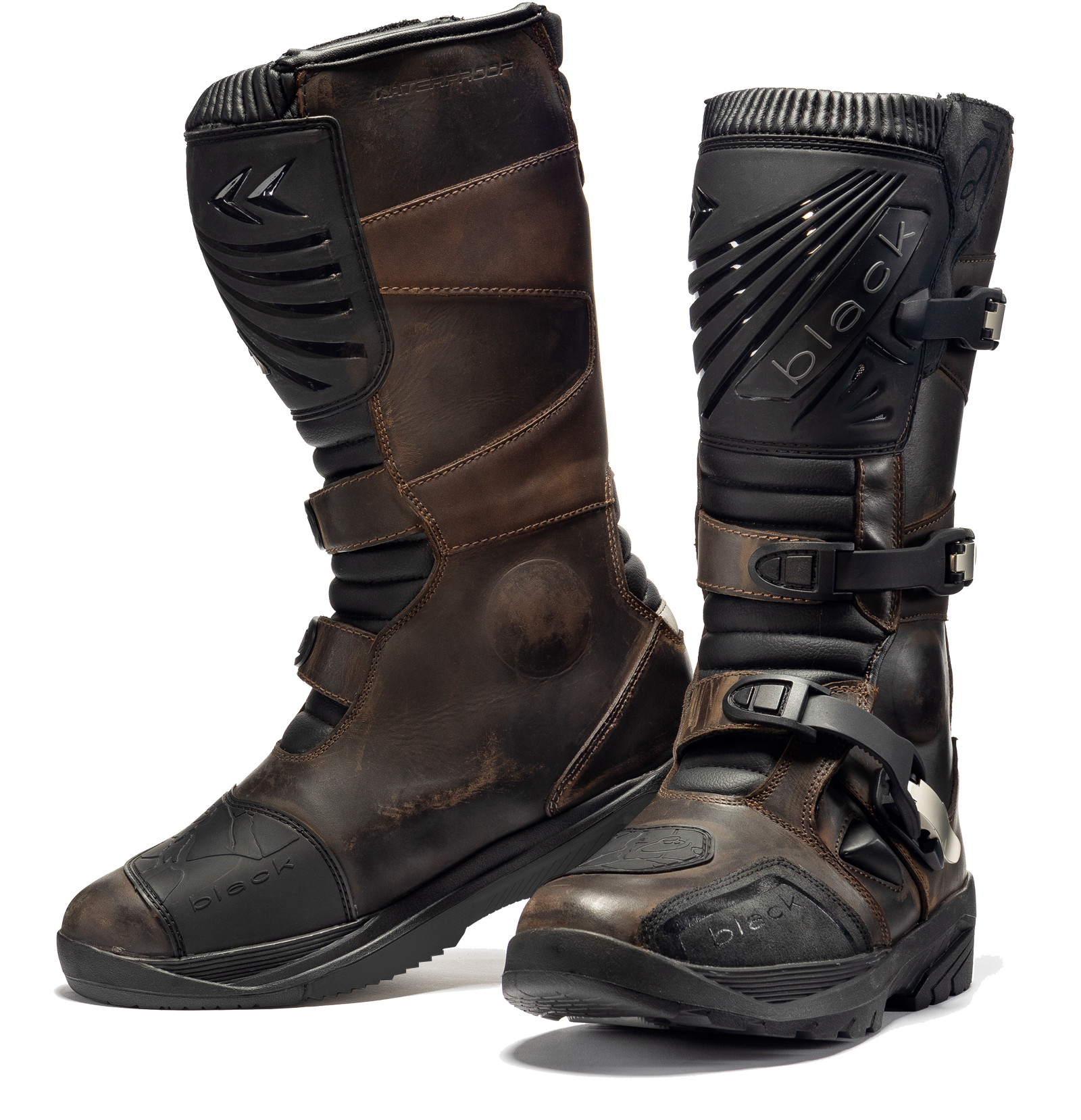 Details about Black Rebel Adventure Waterproof Motorcycle Boots Touring Leather Motorbike