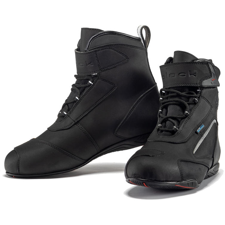 Black City Ankle Motorcycle Boots