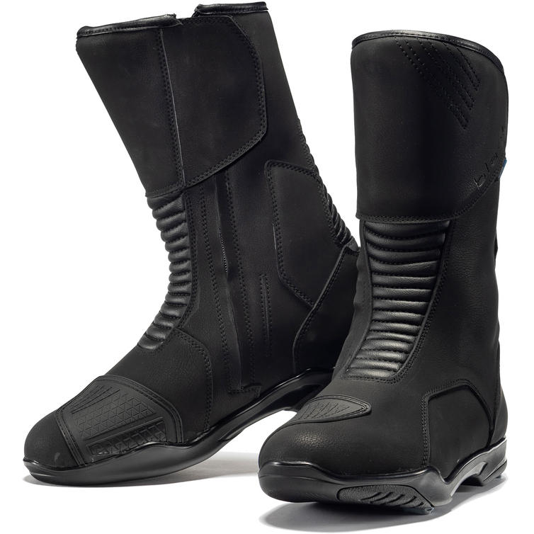 Black Travel WP Touring Motorcycle Boots