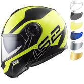 LS2 FF325 Strobe Zone Flip Front Motorcycle Helmet & Visor