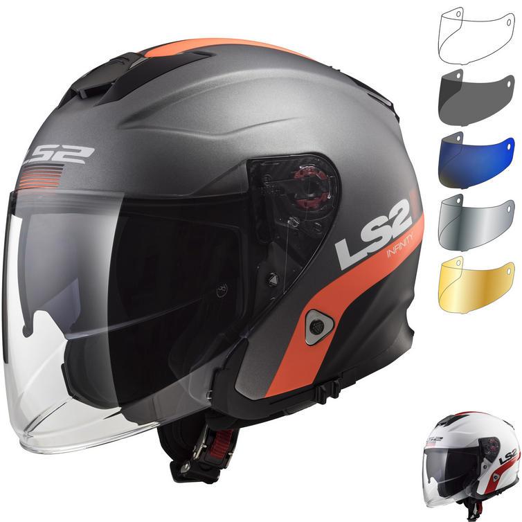 LS2 OF521 Infinity Smart Open Face Motorcycle Helmet & Visor