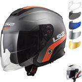 LS2 OF521 Infinity Smart Open Face Motorcycle Helmet & Visor