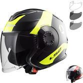LS2 OF570 Verso Technik Open Face Motorcycle Helmet & Visor