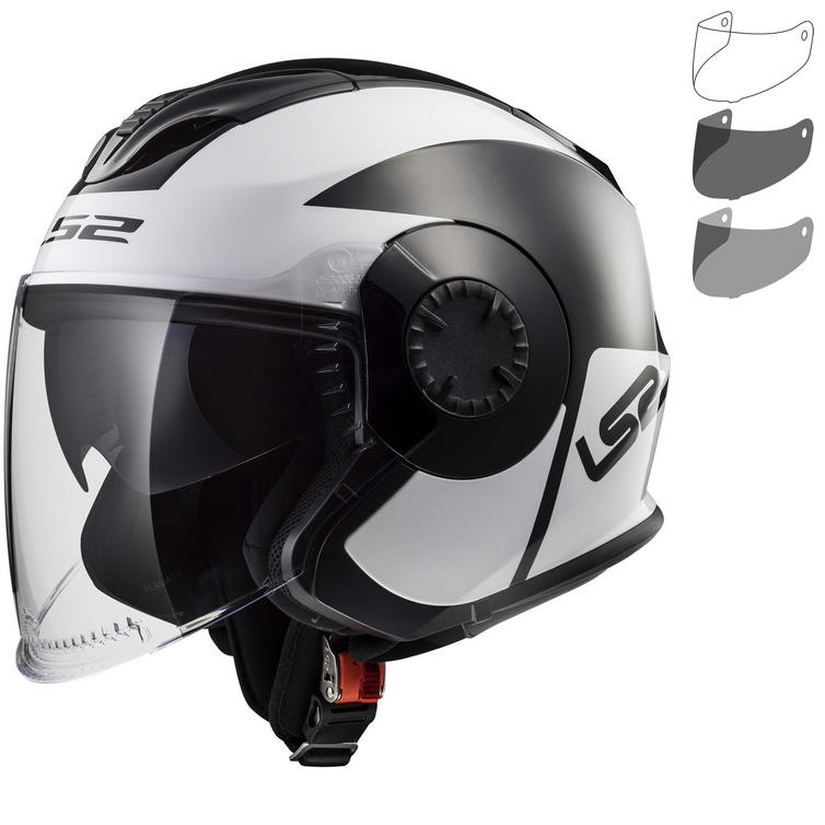 LS2 OF570 Verso Mobile Open Face Motorcycle Helmet & Visor