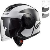 LS2 OF570 Verso Mobile Open Face Motorcycle Helmet & Visor