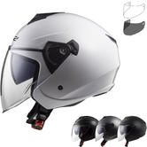 LS2 OF573 Twister Solid Open Face Motorcycle Helmet & Visor