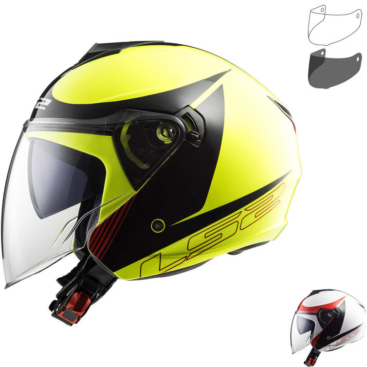 LS2 OF573 Twister Plane Open Face Motorcycle Helmet & Visor