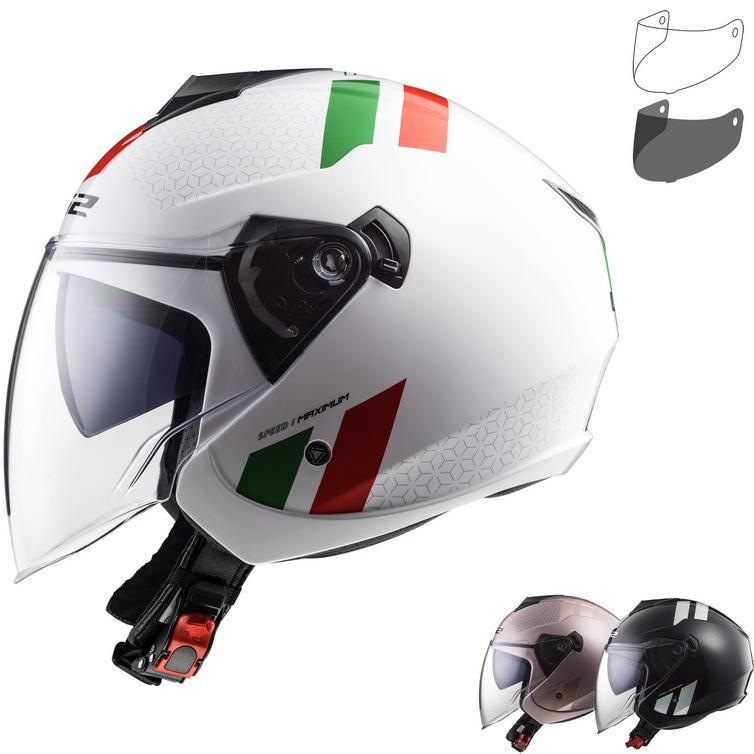 LS2 OF573 Twister Combo Open Face Motorcycle Helmet & Visor